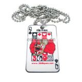 lovely customized metal poppy dog tags wholesale With beads