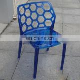 Dongguan manufaction acrylic plastic plexiglass the PC time molding dining chair