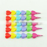 stacking crayon 6 colors heart shaped stacker crayon without printing