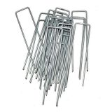 Galvanized steel garden securing pegs
