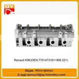 excavator engine parts Renault K9K(OEN 7701473181) cylinder head