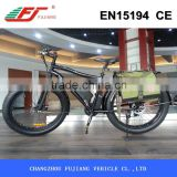 2015 500W strong power fat electric bike with mudguard ride on the mountain