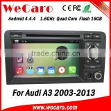 Wecaro Touch Screen for audi a3 s3 navigation system 2003-2013 DVD +3G+BLUTOOTH +AM/FM+USB/SD +GPS                                                                         Quality Choice