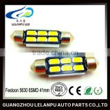 Auto Lamp Decoration Light design Festoon 5630 6SMD 41mm Work Led Light festoon lighting led brake light