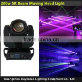 200w 5R beam moving head light 16CH DMX512 5R lamp Good Fan cooling fast movement very quiet international valtage 110V-240V