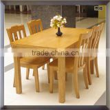 Hot sale solid wooden frame with dining table and chair/good quality dining room furniture