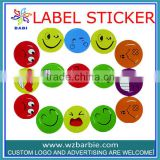 cute colorful cartoon smiling face kindergarten teaching game rewards stickers