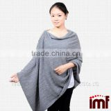 100 % Pure Cashmere Scarves Sweater Crochet Lady Poncho Cashmere with Buffalo Horn Button