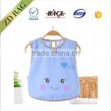 new fashion style hot selling waterproof lovely baby bib dining apron
