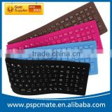 High Quality 107keys Flexible Silicon Waterproof Bluetooth 3.0 Keyboard with Numeric keypad