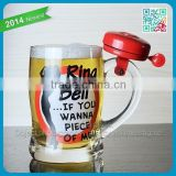 Business gift glass beer cups bell glass beer mugs tumbler stein better quality glass bell beer cups mug glasses