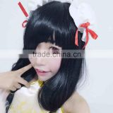 New pop anime Cartoon 100cm Long Black DATE A LIVE Tokisaki Kurumi Cosplay Wig