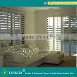 Wholesale doors and windows wooden adjustable indoor basswood louver high quality Hotel Etc window shutter