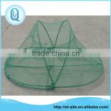Good quality cheap metal frame green oval collapsing fish or crab trap nets