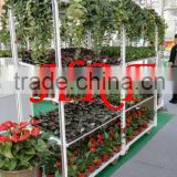 Garden center display floats carts Display Flower Trolley cart.Danish Trolley.Gardening Transport Cart, Steel Rolling Trolley T