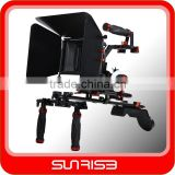SUNRISE DSLR Shoulder Stabilizer Kit/camera shoulder rig+ Matte Box+ C shape Handle+ Follow Focus for DSLR HDSLR