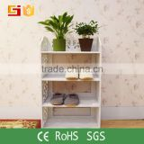 Bedroom furniture room decor white shoe rack with special process vietnam