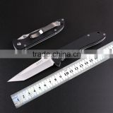 Customized knife Land 440 stainless steel folding pocket knife with G10 handle