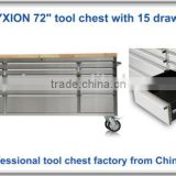 "72"" wood top roller tool garage metal workbench worktable with drawer"