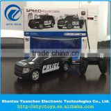 Good quality 1:16 4 channel Ford Raptor F-150 police car simulation patrol vehicle toys for with led light
