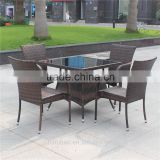 rattan set/4 chairs with 1 table/garden furniture/outdoor rattan table/outdoor rattan chair/rattan furniture table and chair