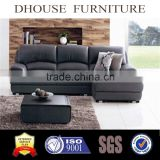 modern black leather sectional sofa A341