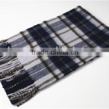 Multicolor Yarn Dyed Cashmere scarf With Fringe For Men