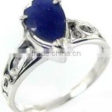 Beautiful ! BLUE SAPPHIRE Ring & .925 Sterling silver Ring Online Silver Jewelry Wholesaller
