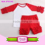 Wholesale latest OEM baby shorts design solid color ruffle icing shorts baby girls children petti summer kids ruffle shorts set                                                                         Quality Choice