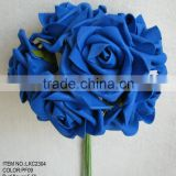 Colorfule Foam loose rose artificial flowers bouquets for wedding bridesmaids
