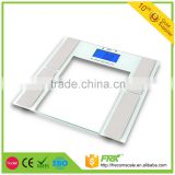 digital body fat analyzer for health care and household use with glass top for measure body fat, bone, water
