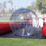 Giant funny inflatable clear bowling ball, inflatable human roll inside walking ball, inflatable bubble water ball
