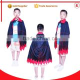 New design wholesale super hero satin cape halloween vampire capes for kids