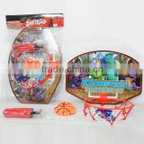 Wall mounted plastic toy basketball backboard and hoop toy