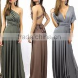 NEW Womens Bridesmaid Convertible Infinity Multi-Way Long Full Length Wrap Long Maxi Dress                                                                                         Most Popular