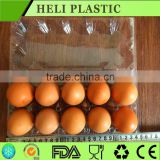 Disposable open and close egg trays free blister plastic egg cartons