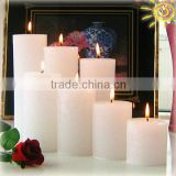 white scented decorative pillar candles