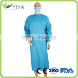 Surgical medical visit uniform, disposable medical lab coat,doctor lab gown with buttons