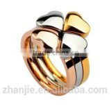 Cheap wholesale fashion stainless steel jewelry custom made wedding 316l surgical stainless steel ring