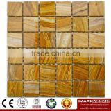 IMARK Polished Wood Grain Onyx Marble Stone Mosaic Tile Backsplash Tile for Wall Decoration Code IVM7-027