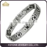KSTONE New Fashion Good Quality 316L Stainless Steel Bio Energy Health Magnetic Charm Bracelets for Man