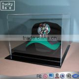 Factory manufacture crystal acrylic baseball hat display case /box