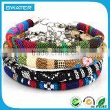 Hot Selling Products Waxed Cotton Rope Bracelet