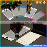 Front+Back Full Cover Screen Protector Mirror Effect Color Tempered Glass Protective case Film For iPhone 4 4S 5 5s 6 plus