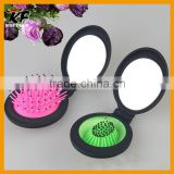 decorative magic foldable mirror and hair brush comb set