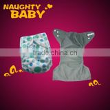 Eco friendly Charcoal bamboo lining pocket Baby cloth diaper bamboo inner MINKY cloth diaper