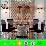home furniture, round marble dining table with lazy susan, round stainless steel dining table, stone round table top