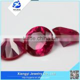 wuzhou synthetic round shape blood ruby gemstones