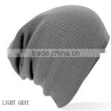 High quality promotional custom winter warm beanie plain color knitted hat