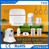 GSM Newest Home Security Alarm System with wifi camera with Door Pir Sensor Siren Remote Control